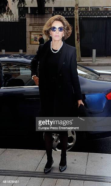 Naty Abascal attends the funeral for the Countess of Ripalda and mother of Jaime de Marichalar Concepcion Saenz de Tejada at San Francisco de Borja...