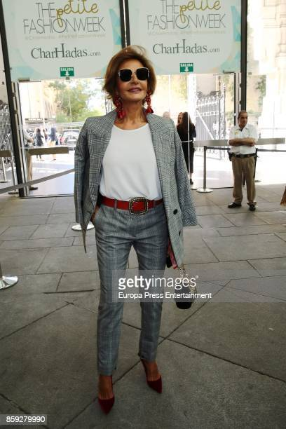 Naty Abascal attends 'The Petite Fashion Week' Photocall at Cibeles Palace on October 6 2017 in Madrid Spain