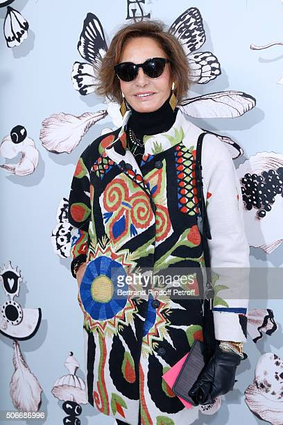 Naty Abascal attends the Schiaparelli Haute Couture Spring Summer 2016 show as part of Paris Fashion Week on January 25 2016 in Paris France