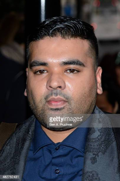 Naughty Boy attends The Asian Awards at The Grosvenor House Hotel on April 4 2014 in London England