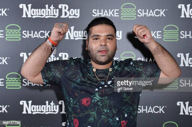 Naughty Boy during the launch of 'Shack Sounds' at Shake Shack Leicester Square on October 22 2017 in London England