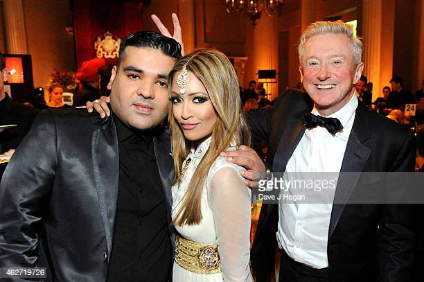 DJ Naughty Boy Tasmin LuciaKhan and Louis Walsh attend the British Asian Trust dinner at Banqueting House on February 3 2015 in London England