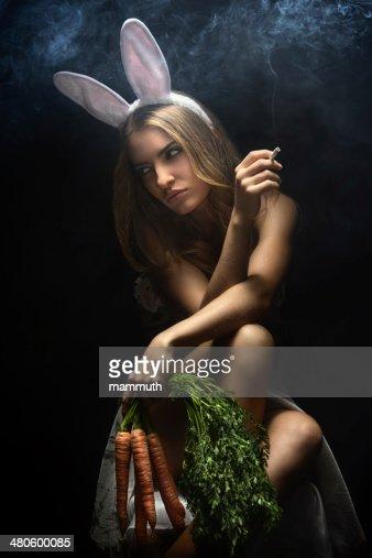 Naughty Bunny Girl : Stock Photo