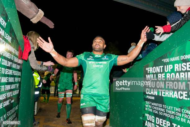 Naulia Dawai of Connacht pictured after the Guinness PRO14 Round 8 rugby match between Connacht Rugby and Toyota Cheetahs at the Sportsground in...