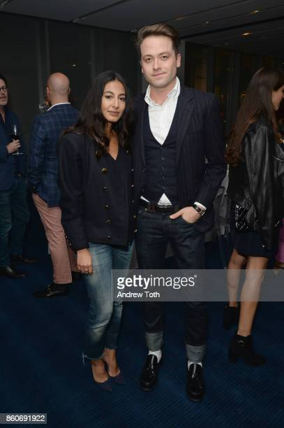 Nausheen Shah and Thomas Carter Phillips attend as Harper's BAZAAR and THE OUTNETCOM Celebrate the opening of MoMA's Fashion Exhibit 'Is Fashion...