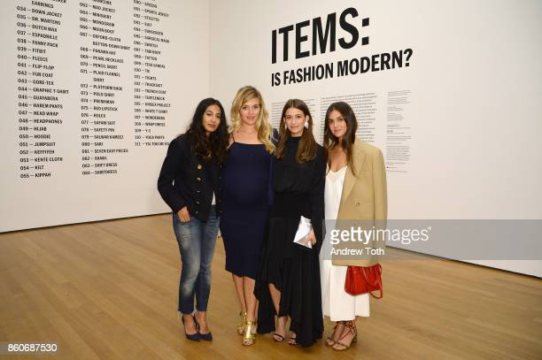Nausheen Shah Daphne Oz Amanda Alagem and Lainy Hedaya attend as Harper's BAZAAR and THE OUTNETCOM Celebrate the opening of MoMA's Fashion Exhibit...