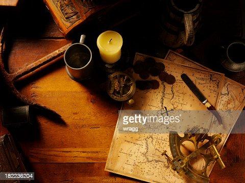 Nautical Equipment and Treasure Map