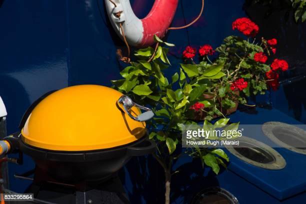 Nautical Portable Barbeque. Nautical Riverside Design & Color