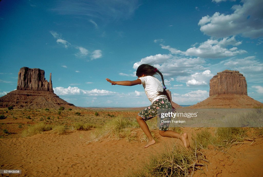 Navajo Boy in Monument Valley