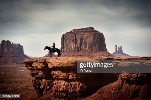 Navajo Cowboy in American Southwest Landscape