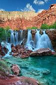 Navajo Falls in Havasupai Indian Reservation in the Grand Canyon area, Arizona, USA