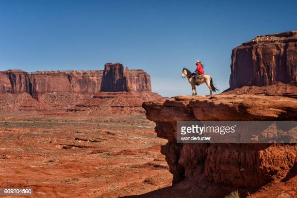 Navajo man on horse at John Ford's Point Monument Valley