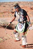 A Navajo Native American Man performing Traditional Dance (horizontal)