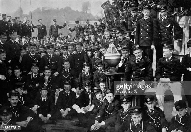 Naval cadets on board HMS 'Britannia' Dartmouth Devon 1895 Launched in 1860 the battleship HMS 'Prince of Wales' was renamed 'Britannia' and...