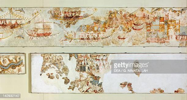Naval expeditions Akrotiri fresco Thera Minoan Civilization 16th Century BC Athens Ethnikó Arheologikó Moussío
