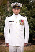 Naval Officer Outside