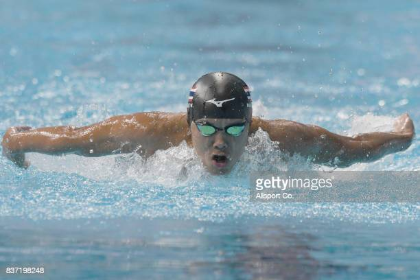 Navaphat Wongcharoen of Thailand competes during the Men 200m Butterfly Final at the Aquatic Centre as part of the 2017 SEA Games on August 22 2017...