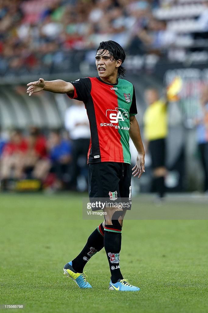 Navarone Foor of NEC during the Dutch Eredivisie match between NEC Nijmegen and FC Groningen on August 3 2013 at the Goffert stadium in Nijmegen The...