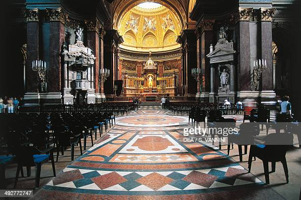 Nave and high altar of St Stephen's Basilica 19th20th century Pest Budapest Hungary