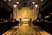 Nave of a cathedral, Washington National Cathedral, Washington DC, USA