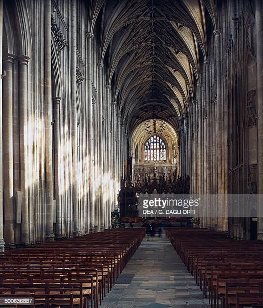 Nave of the Cathedral and Metropolitical Church of Christ at Canterbury Canterbury Kent England United Kingdom 13th century