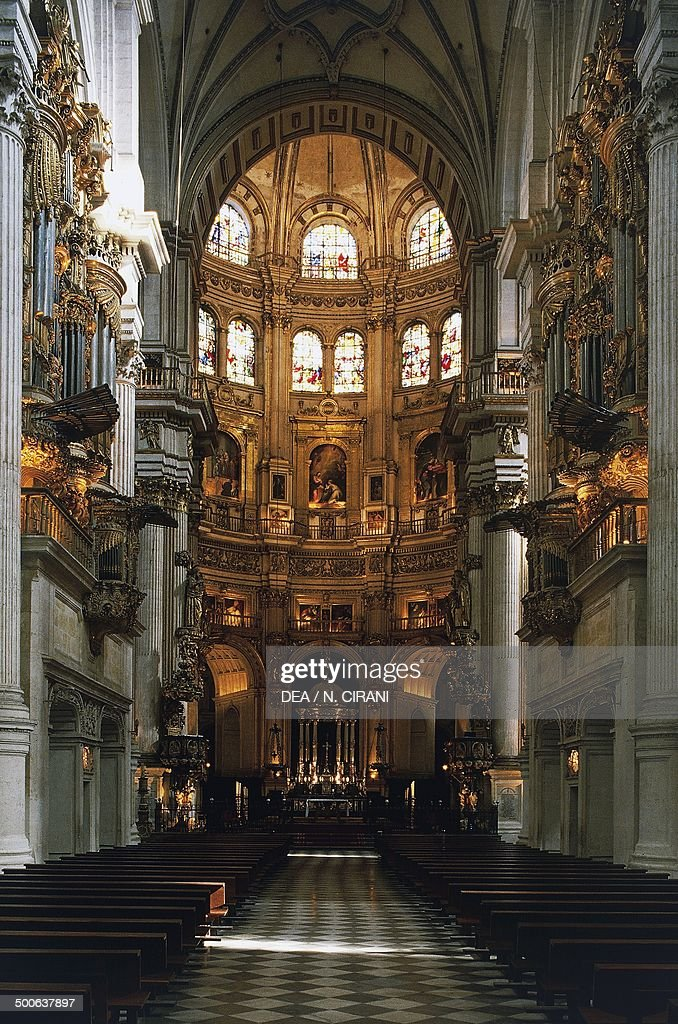 Nave of the Cathedral of the Incarnation, architects Enrique Egas and Diego de Siloe, Granada, Spain, 16th-18th century.