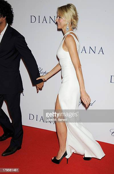 Naveen Andrews and Naomi Watts attend the World Premiere of 'Diana' at Odeon Leicester Square on September 5 2013 in London England