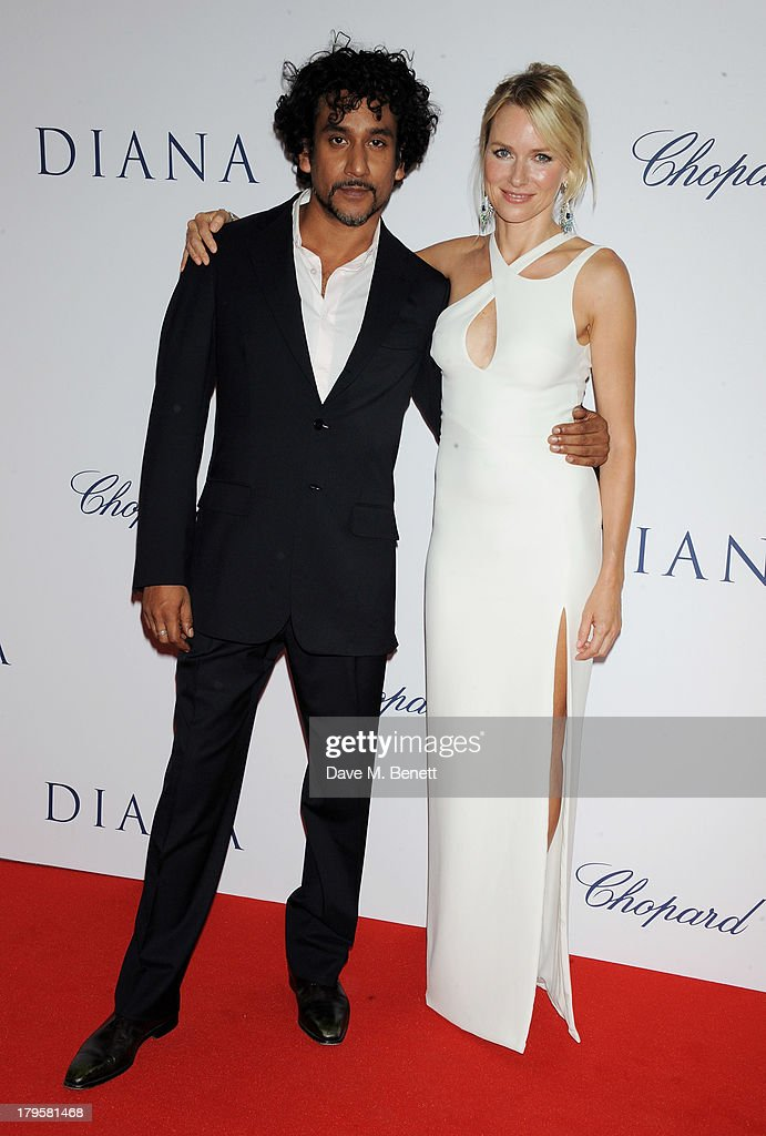 Naveen Andrews (L) and Naomi Watts attend the World Premiere of 'Diana' at Odeon Leicester Square on September 5, 2013 in London, England.