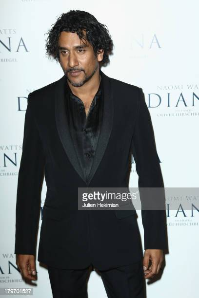 Naveen Andrews attends the 'Diana' Paris premiere at Cinema UGC Normandie on September 6 2013 in Paris France