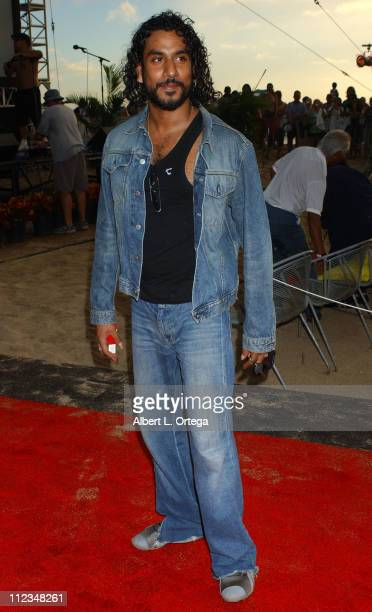 Naveen Andrews during 'Lost' Season 2 Premiere Arrivals in Waikiki Hawaii United States
