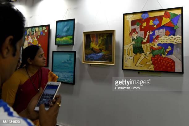Navi Mumbai Bengali Association has organised a grand art festival at Vashi in Navi Mumbai India on Friday December 1 2017