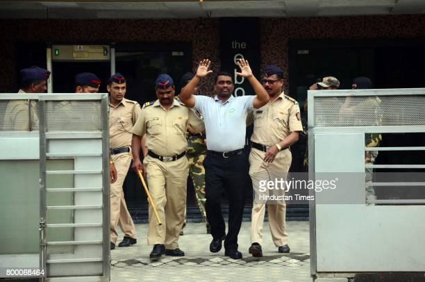 Navi Mumbai Police organized mock drill at Hotel Tunga Vashi on June 21 2017 in Mumbai India