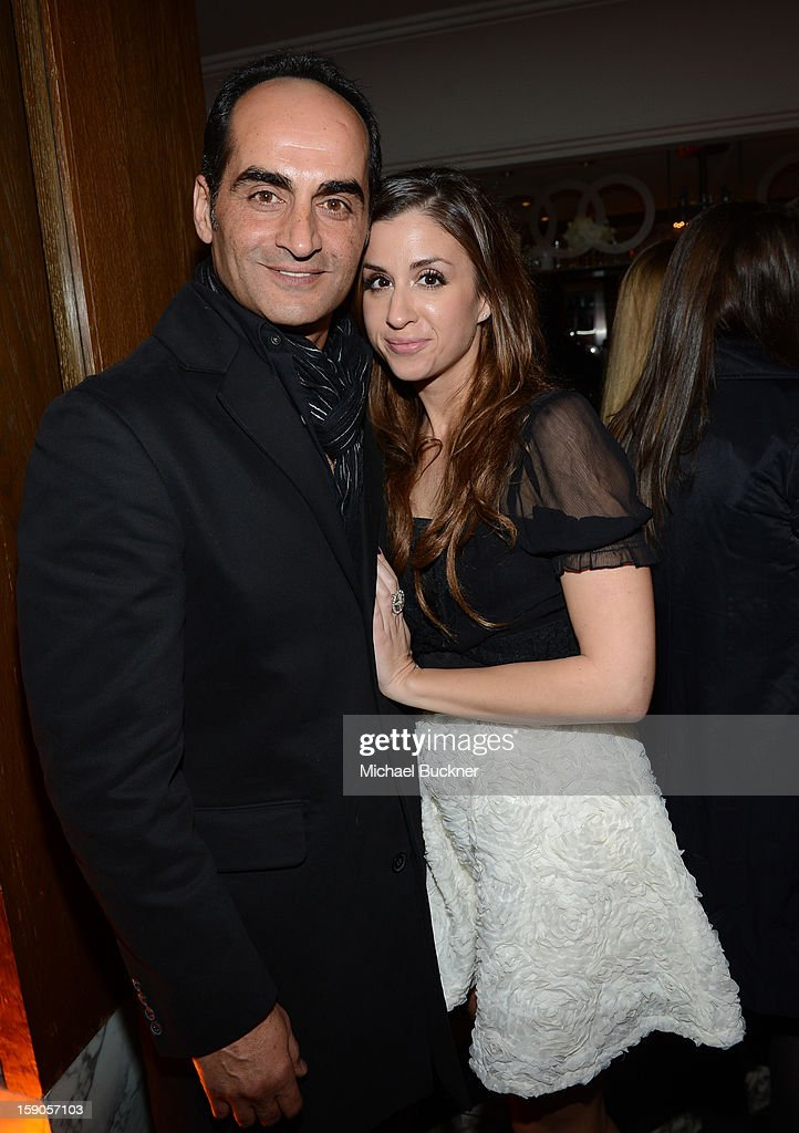 Navid Negahban (L) and guest attend the Audi Golden Globes Kick Off 2013 at Cecconi's Restaurant on January 6, 2013 in Los Angeles, California.