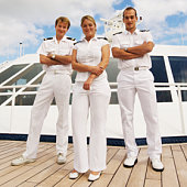 navigation officers on cruise ship