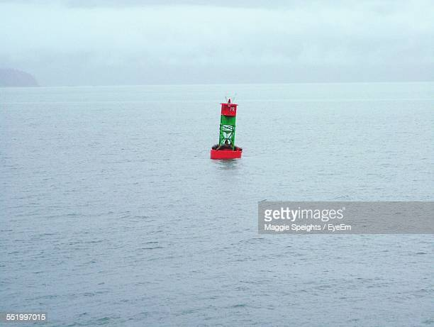 Navigational Buoy In Sea