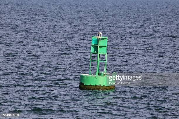 Navigational Buoy marking a shipping channel, Lake Erie, USA