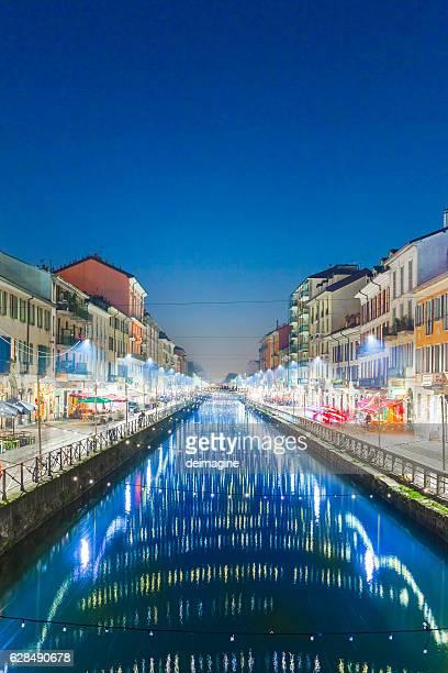 Naviglio Grande, canal in Milan City