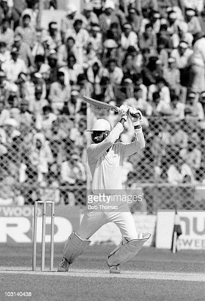 Navjot Singh Sidhu batting for India against Australia during the Cricket World Cup match held in New Delhi on 22nd October 1987 India beat Australia...