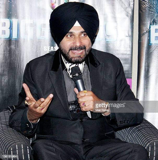 Navjot Singh Sidhu during his press conference in Mumbai
