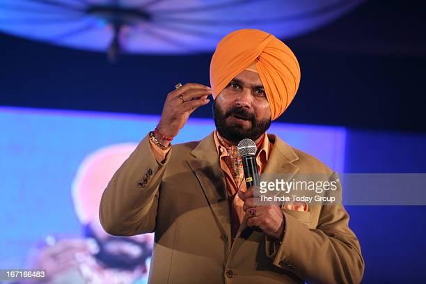 Navjot Singh Sidhu during the launch of his website sherryontoppcom in Mumbai on 18th April 2013