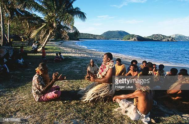 Navotua village kava ceremony on Blue Lagoon cruise.