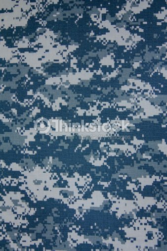 Us Navy Digital Camouflage Fabric Texture Background Stock