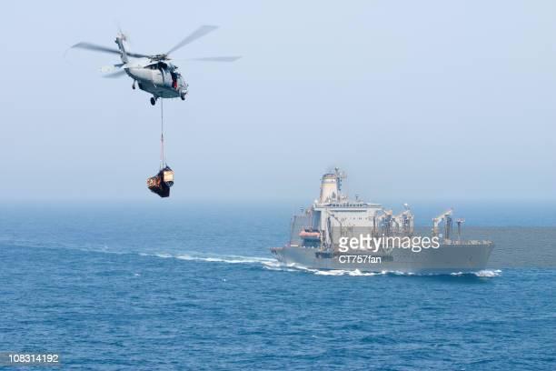 Hélicoptère bleu marine