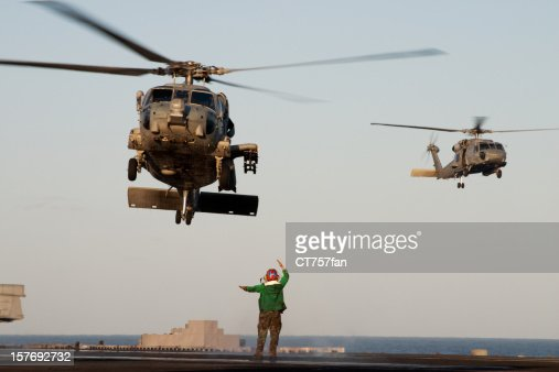 Navy Helicopters Landing