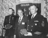 NOV 14 1968 NOV 15 1968 Navy League Cites Two Recruiters Marine Sgt Donald R Michael Jr USMC James P Eakins President of the League's Denver Council...