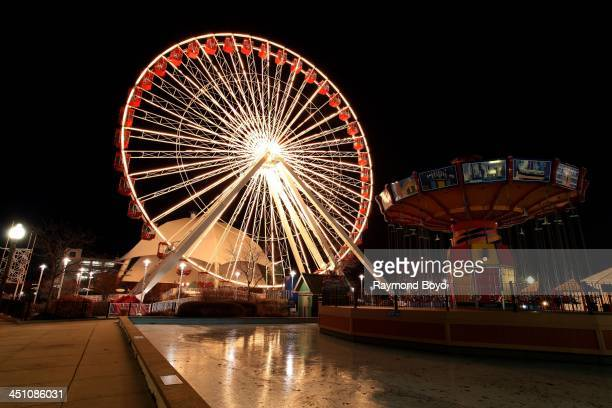 Navy Pier Ferris Wheel at Navy Pier in Chicago Illinois on NOVEMBER 19 2013