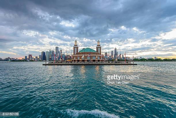 Navy Pier with Lake Michigan