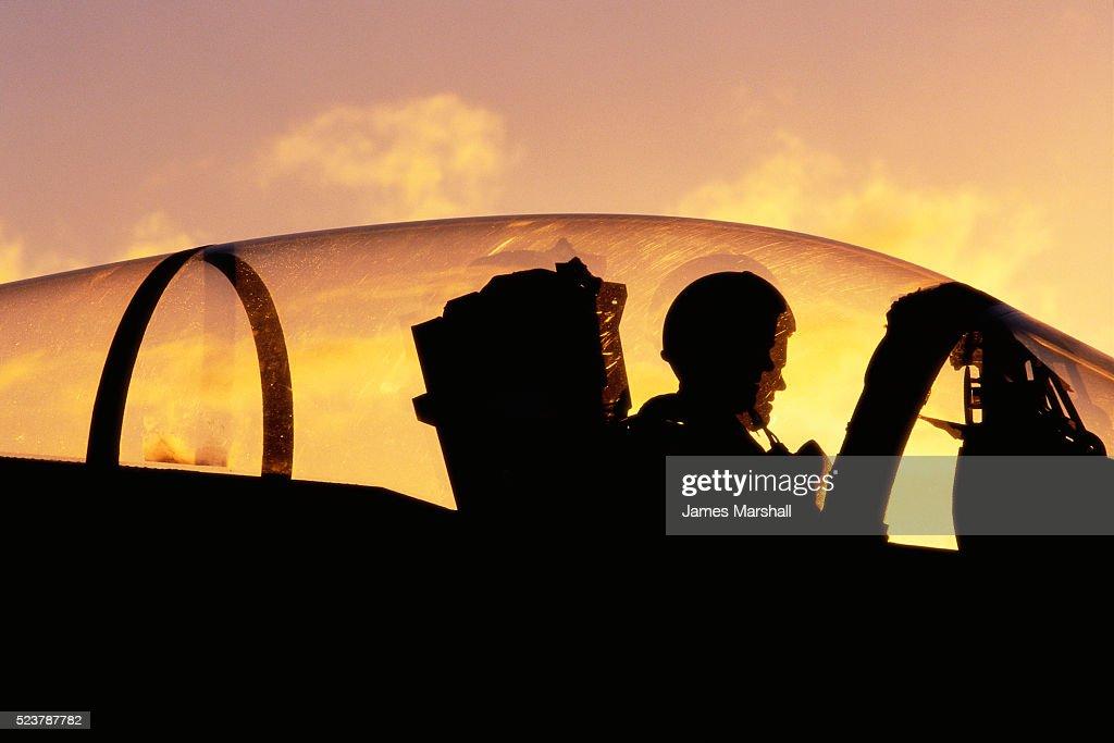 Navy Pilot in Fighter Plane