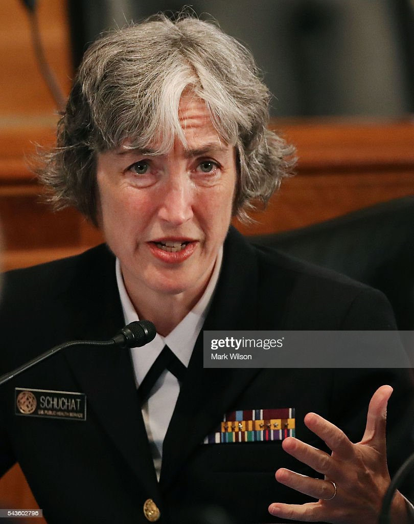 Navy Rear Adm. Anne Schuchat, principal deputy director of the Centers for Disease Control and Prevention, speaks during a Senate Homeland Security and Governmental Affairs Committee round table discussion on the Zika Virus, June 29, 2016 in Washington, DC. The committee hosted the discussion to learn how to prepare and protect the nation from the Zika Virus.
