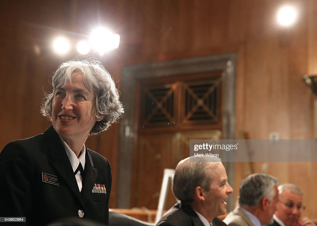Navy Rear Adm. Anne Schuchat, principal deputy director of the Centers for Disease Control and Prevention, arrives at a Senate Homeland Security and Governmental Affairs Committee round table discussion on the Zika Virus, June 29, 2016 in Washington, DC. The committee hosted the discussion to learn how to prepare and protect the nation from the Zika Virus.